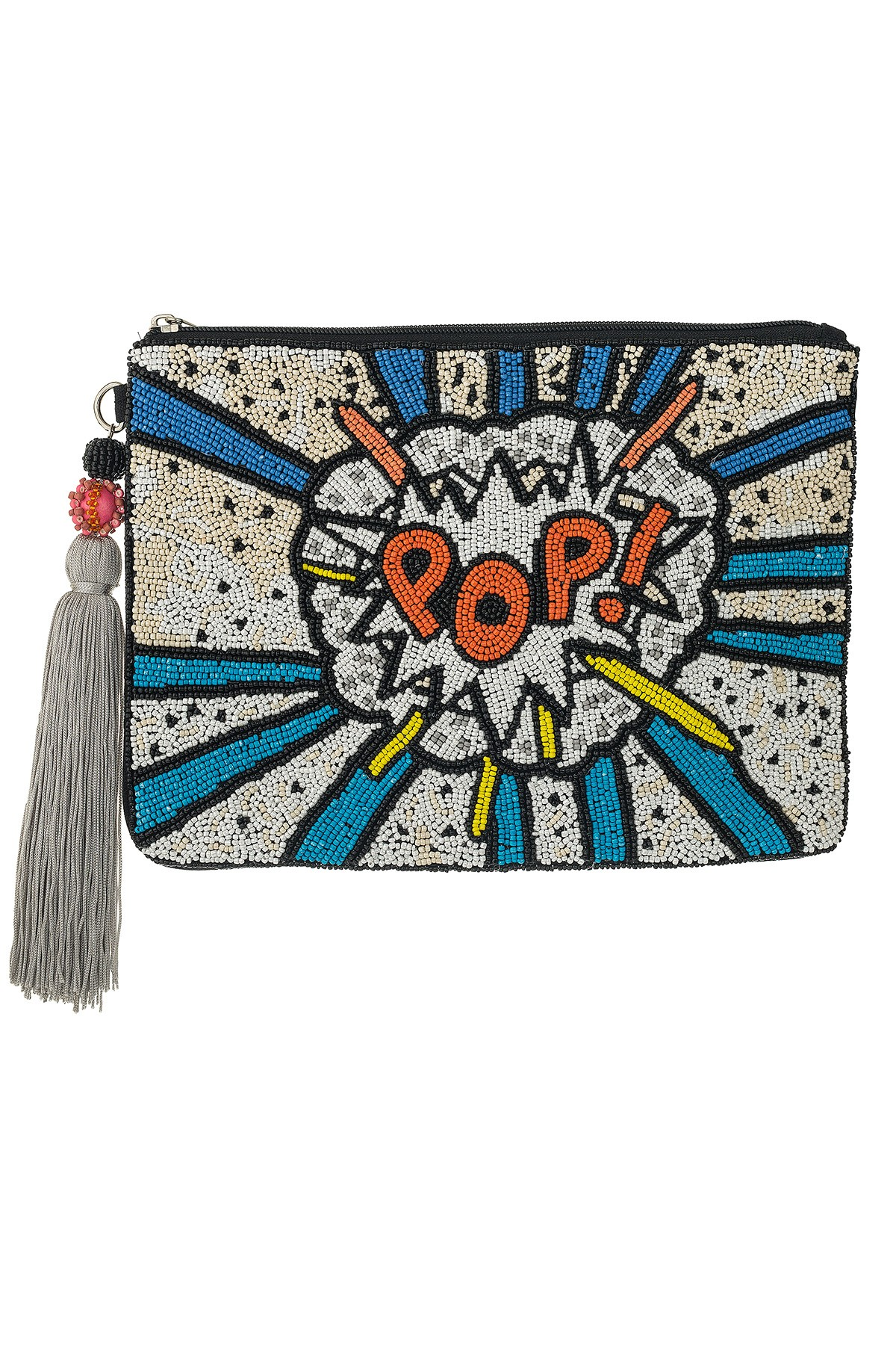 POP! White & Blue Large Clutch
