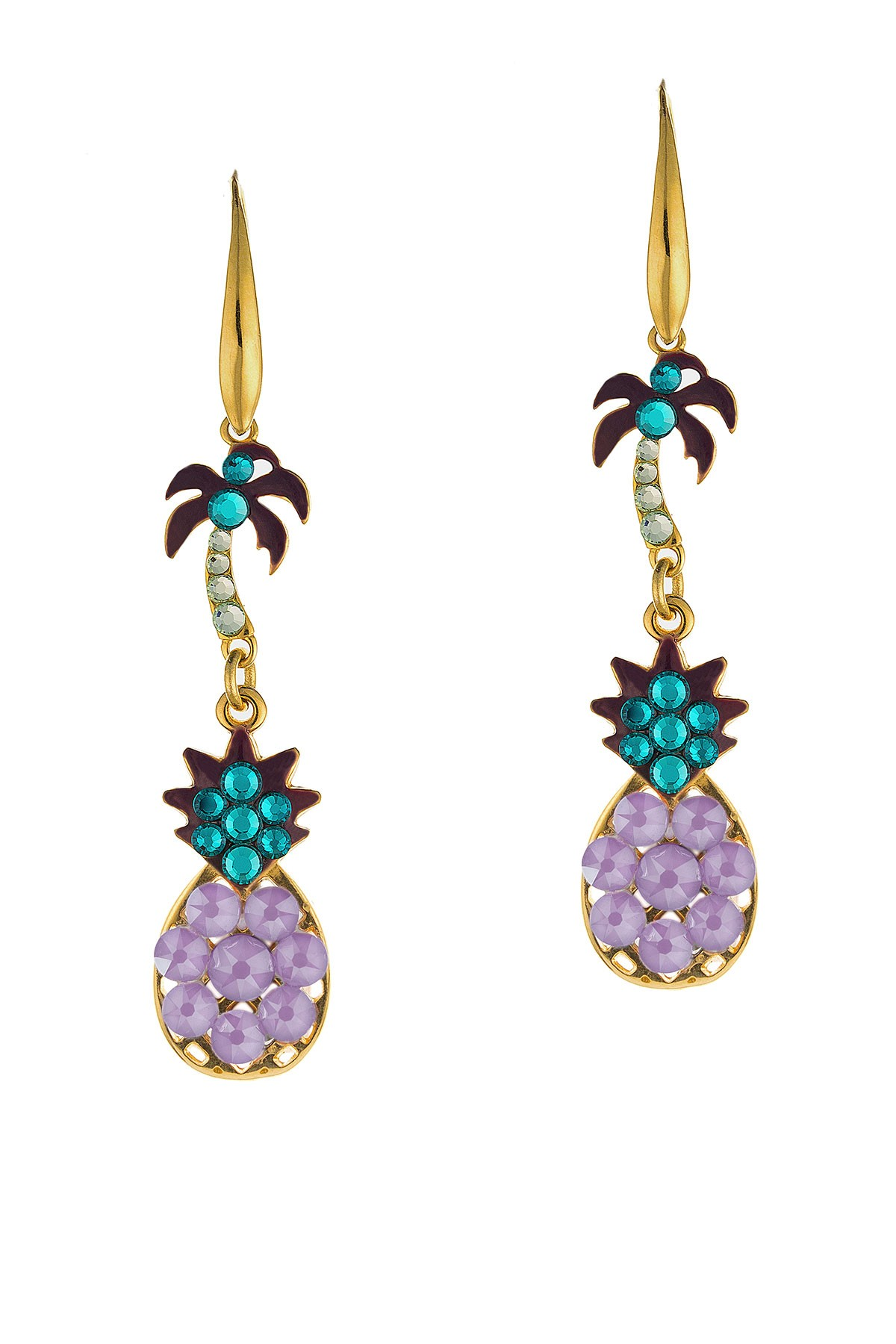 Tropical Earrings Lilac