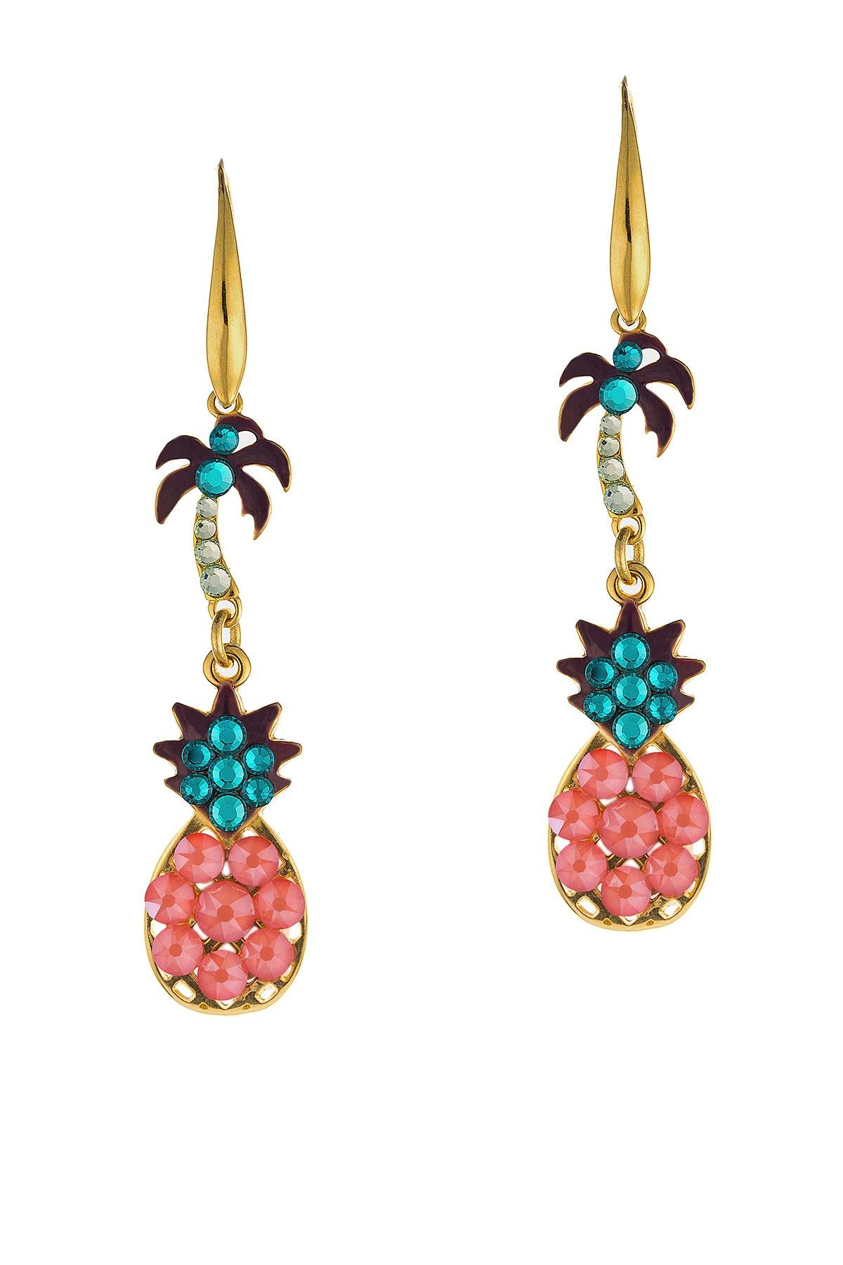 Tropical Earrings Coral