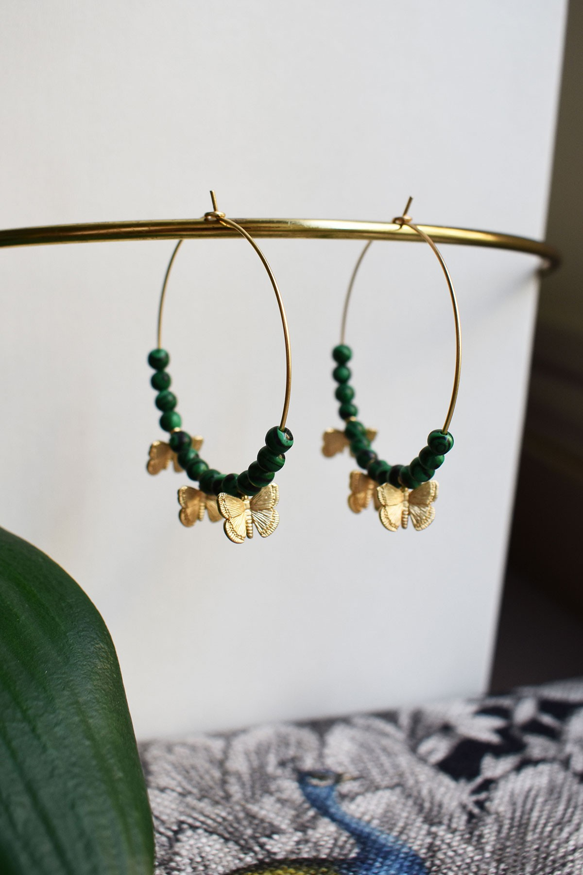Hoop Butterfly Earrings