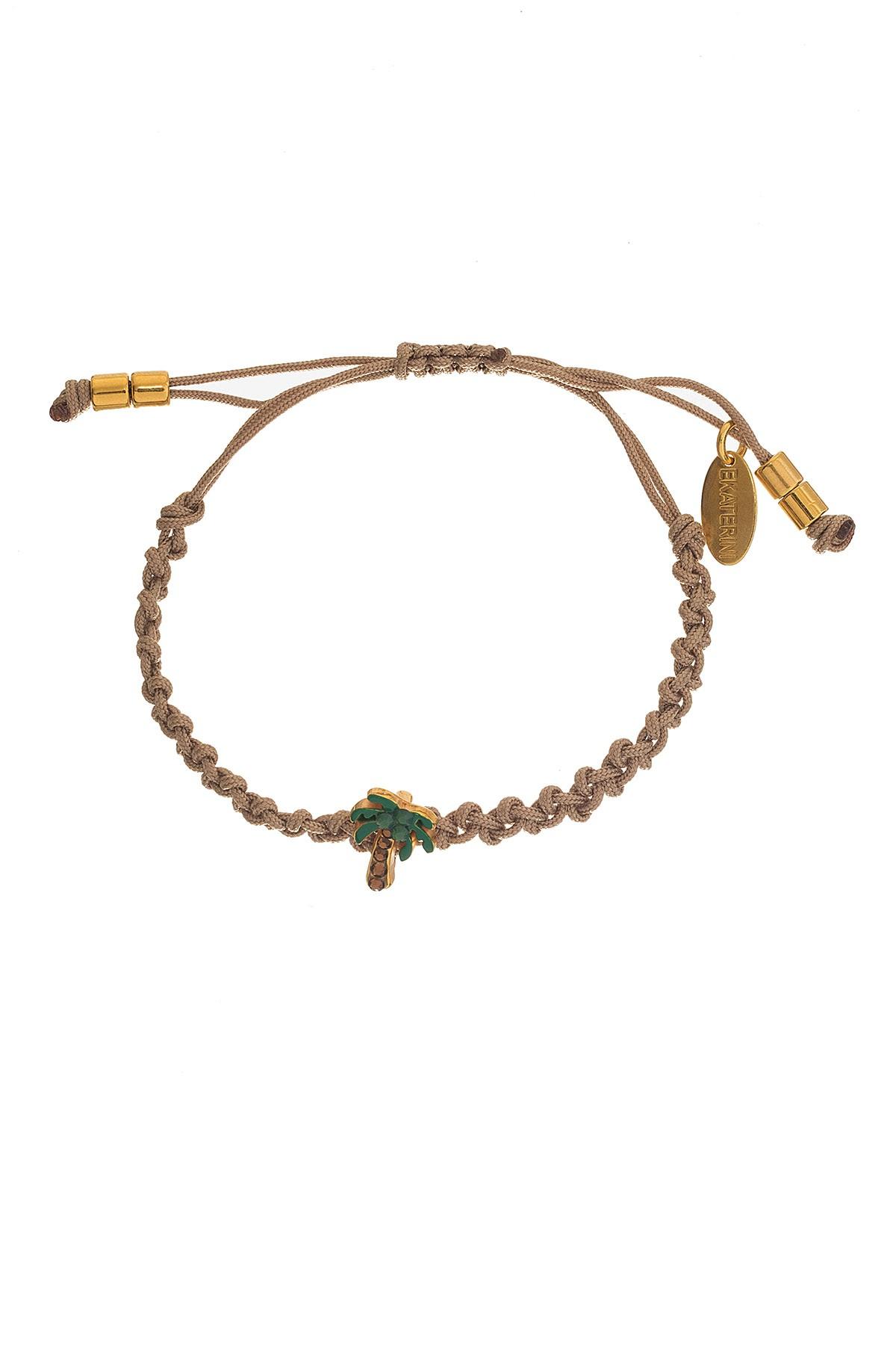 Palm Tree Macrame Bracelet