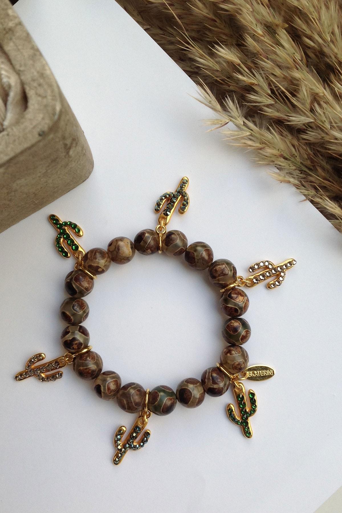Cactus Charms Elastic Bracelet