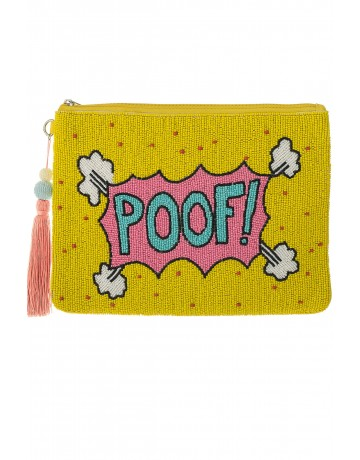 POOF Yellow Large Clutch