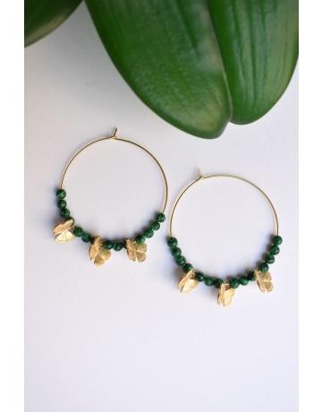 Hoop Butterfly Earrings