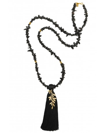 Leaf rosario necklace