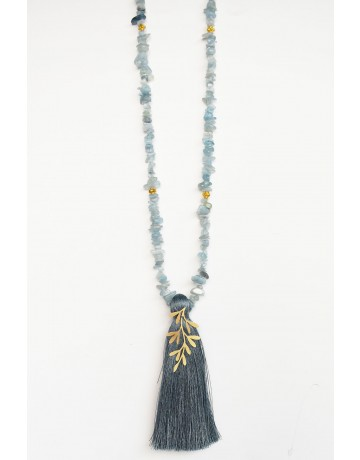 Leaf rosario necklace