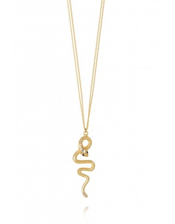 Gold Cobra Necklace
