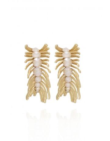 Leaf shape earrings