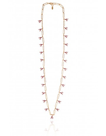 CARIBBEAN CORAL Long Necklace