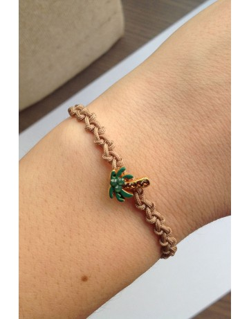 Palm Tree Macrame Bracelet