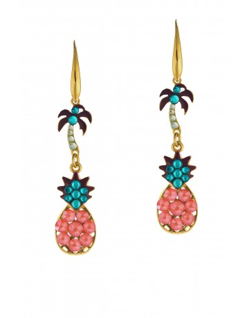 Tropical Earrings Coral
